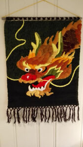 Wool Handloom Dragon Wall Hanging