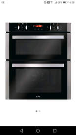 BUILT UNDER DOUBLE ELECTRIC OVEN AND GAS HOB