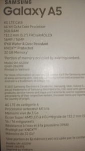 Unopened Samsung Galaxy A5 2017 32G memory