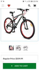 Used once mens bike 27.5 inch ccm savage