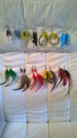 Perfect for Christmas gifts!!!Earring real feather