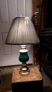 Three lamps and a floor lamp.
