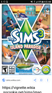 IOS Sims 3 island paradise for Pc