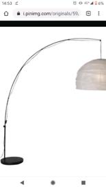 Arched floor lamp black metal IKEA