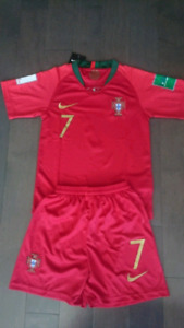 2018 portugal world cup kids kit ( Jersey + shorts )