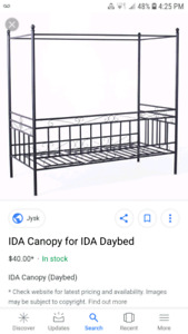 Twin day bed plus canopy