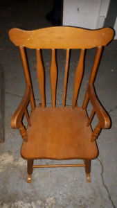 Antique children's rocking chair