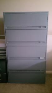Large 5 Drawer Filing Cabinet