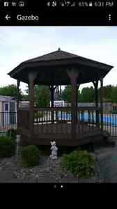 Looking for hired help with a trailer to take down gazebo