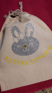 Reusable Personalized Easter bags ! Can add any name/image