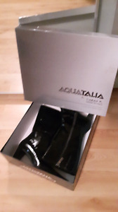 Aquatalia patent leather boots