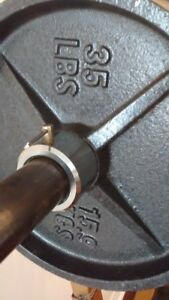 2 x 35 POUNDS OLYMPIC IRON WEIGHT PLATES (2 inch hole)