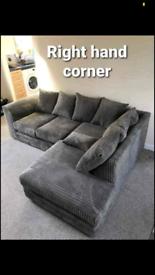 Brand new jumbo cord Dylan corner sofa sets L shape sofa 3+2 seater