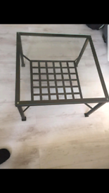 Two Ikea coffee tables.