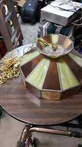 Heavy Stained Glass and Lead Light $60