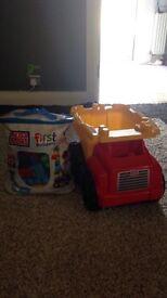 Mega blocks and truck