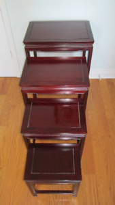 Mahogany Nesting Tables – Set of 4
