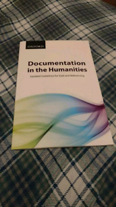 Documentation in the humanities