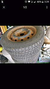 16 Inch Used Tires on Steel Rims (Winter Tires) Set of 4
