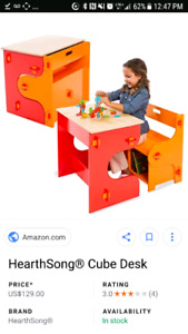 Cube desk wood children's kids new in box heartsong