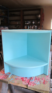 Robin's Egg Blue Corner Unit