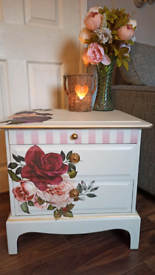 Gorgeous upcycled shabby chic stag bedside drawers