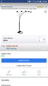 Spyder lamp REDUCED!!  $60