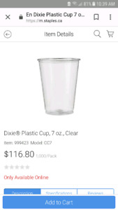 1000 Dixie plastic drinking cups