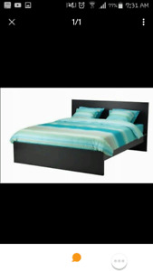 Full/Double size MALM bed. Brown black Fist come first serve!