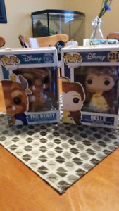 Funky Pop Belle and Beast dolls