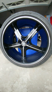 U2-55 22 inch Rims and Tires Set of 4 for sale