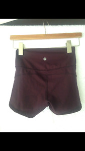 Lululemon In Movement Shorts, size 2, garnet color