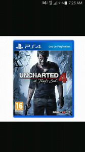 Uncharted 4 PS4 mint