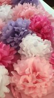 Custom Made Tissue Paper Flower Decorations
