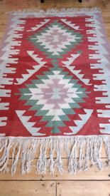 Large Vintage Turkish Wool Kilim 172cmx 123cm