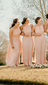 3 Blush bridesmaid dress