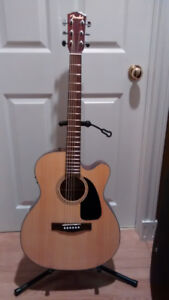 Fender Acoustic/Electric Guitar with Built-in Tuner and Case