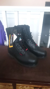 Workboots,  new, size 10, black leather
