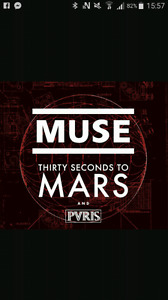Billets spectacle Muse et thirty seconds to mars