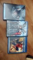 Spider-Man and X-Men dvd's and blu rays