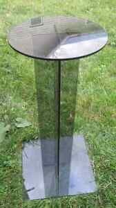 Acrylic or Plexiglass Pedestal Stand 2 feet high Base 1 sq. foot