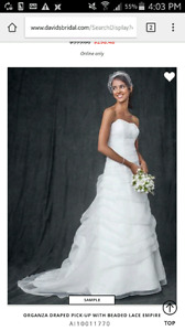 Beautiful David's bridal gown with FREE VEIL