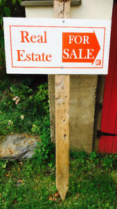 REAL ESTATE TENT SIGNS, TOPPERS FOR SALE