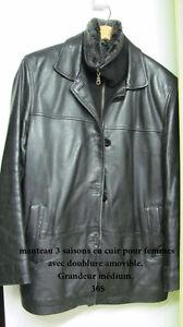 Manteau en cuir 3 saisons