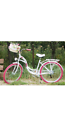 New Ladies girl's white bike with basket