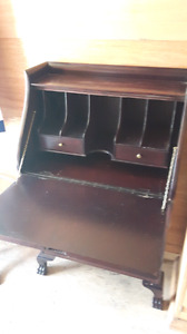Antique cherry finish secretary $100 OBO