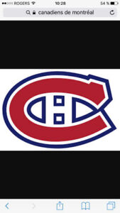 2 billets gris 4 billets bleu Canadiens vs Toronto 26 sept