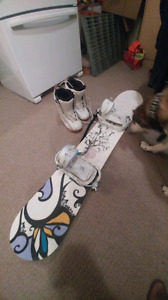 Woman's snowboard with boots $300 obo