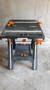 Chevalet de sciage/surface de travail