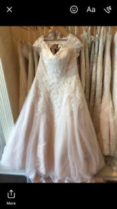 Plus size blush wedding dress (size 20)